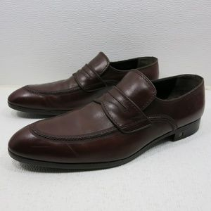 Louis Vuitton Brown Leather Dress Loafers Italy 11